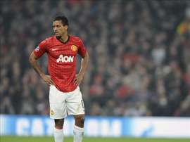 Nani pictured in Champions League action. EFE