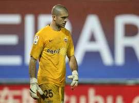 Rubén guardará ahora la meta de Osasuna. EFE/Archivo
