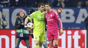 Cristiano empatou com Raúl e roubou um recorde de Casillas. EFE/Archivo