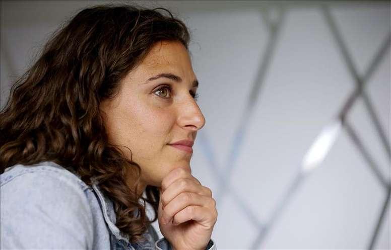 La capitana de la selección española femenina de fútbol, Vero Boquete. EFE/Archivo
