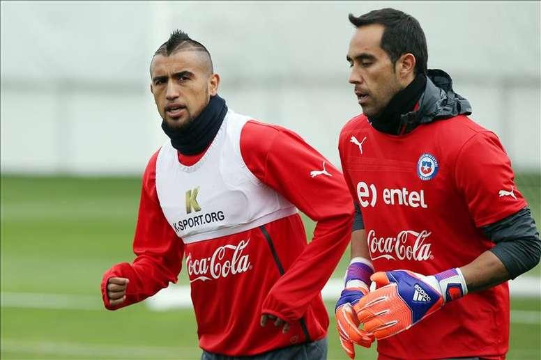 Rueda explicó cómo Vidal y Bravo arreglaron sus diferencias. EFE