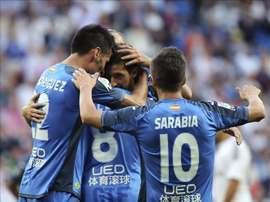 Los jugadores del Getafe celebran un gol. EFE/Archivo