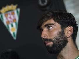 El defensa sevillano José Ángel Crespo, en su etapa como jugador del Córdoba. EFE/Archivo