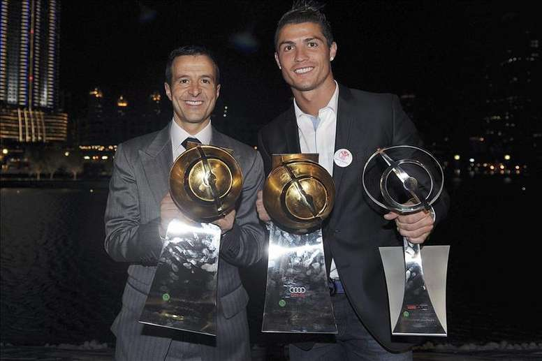 Cristiano Ronaldo es la gran obra de Jorge Mendes. EFE/Archivo