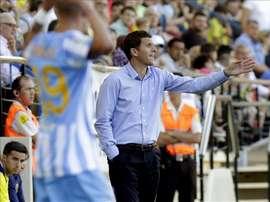 El entrenador del Málaga, Javi Gracia. EFE/Archivo
