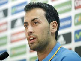 Sergio Busquets spoke to the press ahead of Spain's Euro 2020 qualifying match. EFE