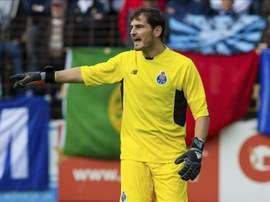 Casillas, during a match with Porto. EFE/Archivo