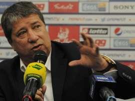 En la imagen, el seleccionador de Panamá, Hernán Darío Bolillo Gómez. EFE/Archivo