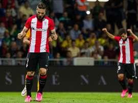 Kike Sola llega para capitanear el gol en el Getafe. EFE
