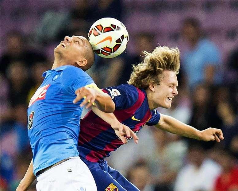 Halilovic fue una de las grandes promesas fichadas por el Barça. EFE