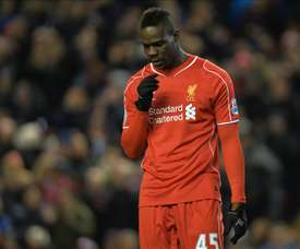 Mario Balotelli, during a match with Liverpool. EFE/Archivo