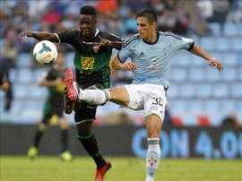 Boakye ha despertado el interés del Chelsea. EFE/Archivo