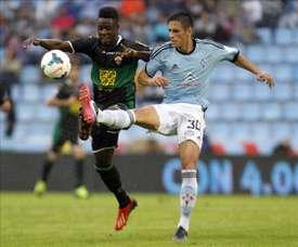 El delantero ghanés, tras su gran temporada en el Estrella Roja, podría llegar a Inglaterra. EFE