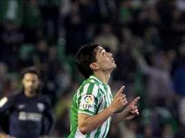 El centrocampista chileno Lolo Reyes, en su etapa como jugador del Real Betis. EFE/Archivo