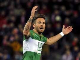 Aarón, en su etapa en el Elche, dice que quiere centrarse en el Oviedo. EFE