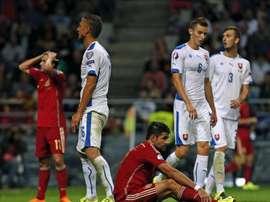 Eslovaquia puso contra las cuerdas a la vigente campeona del torneo en la clasificación. EFE