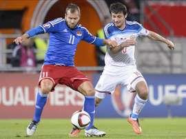 Liechstenstein en un partido anterior frente a Rusia. EFE