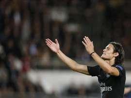 El jugador Edinson Cavani del París Saint Germain en acción. EFE/Archivo