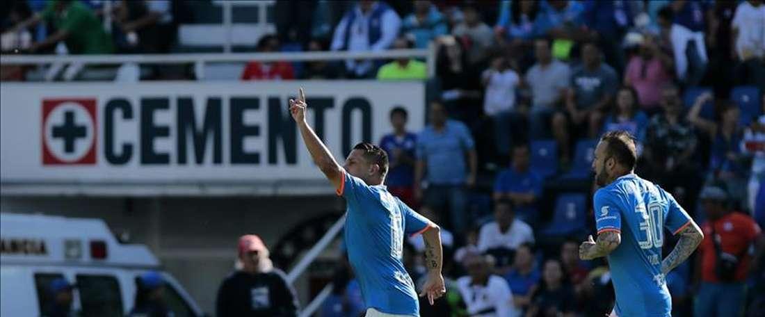 Cruz Azul, celebrando un gol. EFE