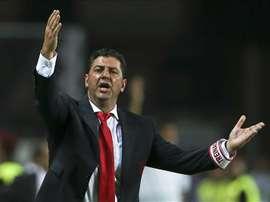 Rui Vitória não deve andar satisfeito com os resultados da sua equipa. EFE/Archivo