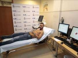 El centrocampista internacional bosnio Haris Medunjanin durante un reconocimiento médico para el Deportivo de La Coruña. EFE/Archivo