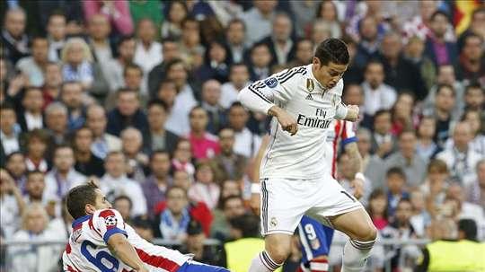Pas de contacts entre le Real et l'Atlético pour James. EFE