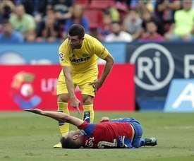 El jugador del Villarreal ha abandonado la disciplina del submarino amarillo. EFE/Archivo