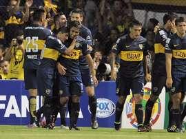 Tras esta victoria, el equipo xeneize totaliza 61 unidades, seis más que San Lorenzo y a ocho de distancia de Rosario Central, con tan solo tres fechas por disputarse. EFE/Archivo