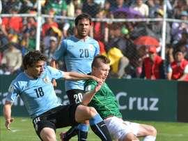 Bolivia se fue goleada de Uruguay, y sin marcar un gol propio pese a terminar 4-2. EFE/Archivo
