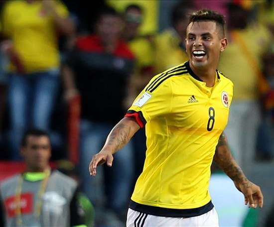 Cardona made an offensive gesture during Colombia's friendly against South Korea. EFE