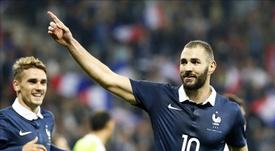 Benzema celebrou o triunfo francês. EFE