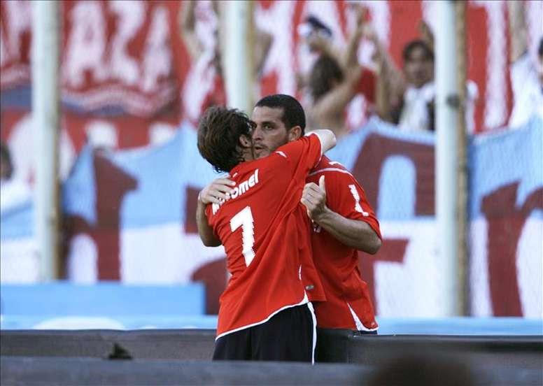 Independiente tiene como gran objetivo de este semestre la Copa Sudamericana, donde disputará a partir de este jueves los cuartos de final ante su homónimo Santa Fe de Colombia. En la imagen un registro de otra de las celebraciones del Independiente de Avellaneda. EFE/Archivo