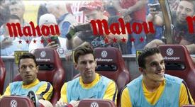 Masip tiene una buena relación con Leo Messi. EFE