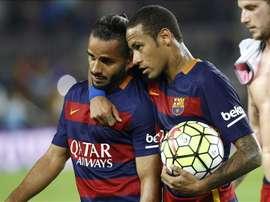 Douglas Pereira considère que s'entraîner avec Messi ou Neymar n'avait pas de prix. EFE