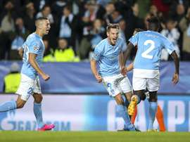 The striker scored as Malmo picked up a precious Champions League win. EFE