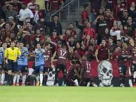 Atlético Paranaense logró el pase a la fase de grupos de la Copa Libertadores. EFE