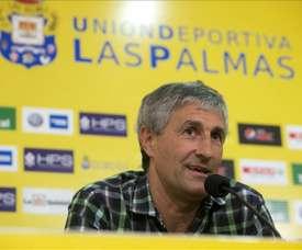 El entrenador de la UD Las Palmas, Quique Setién. EFE/Archivo