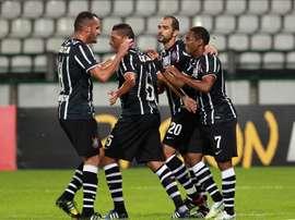 En la imagen, jugadores del Corinthians de Brasil. EFE/Archivo