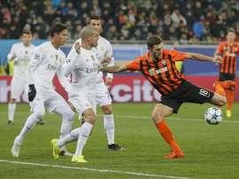 El Shakhtar no consigue acercrse al Dinamo en la Liga de Ucrania. EFE