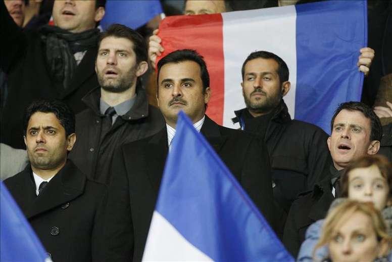 El jeque del PSG, en París. EFE
