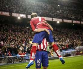 'Trio' dos 'rojiblancos' conhece o sabor de marcar no Bernabéu. EFE