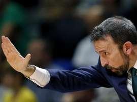 El entrenador de Unicaja, Joan Plaza. EFE/Archivo
