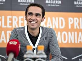 El ciclista español del Tinkoff-Saxo, Alberto Contador. EFE/Archivo