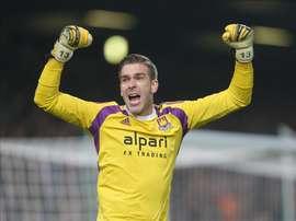 Adrián ha perdido la titularidad en el West Ham. EFE