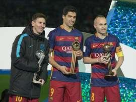 Messi dépasse Andrés Iniesta. EFE