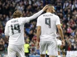 Modric hailed Benzema. EFE