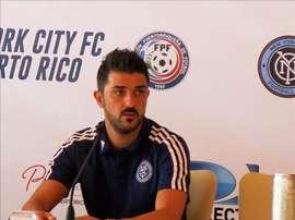 David Villa, jugador del New York City y ex miembro de la selección española. EFE/Archivo