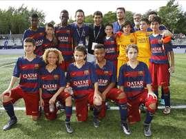 El Barça, uno de los favoritos en la Liga Promises. LaLiga