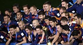 Barcelone a été la dernière équipe à remporter le triplé. AFP