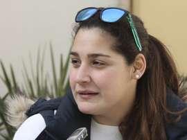 La defensora de boya Lorena Miranda, integrante de la selección española de waterpolo femenino, durante la entrevista concedida a Efe. EFE